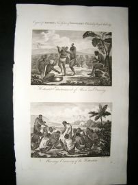 South Africa C1790 Folio Antique Print. Hottentots